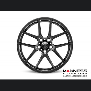 Alfa Romeo Stelvio Custom Wheels - Flow Formed - 5 Split Spoke Design - Black Chrome Finish