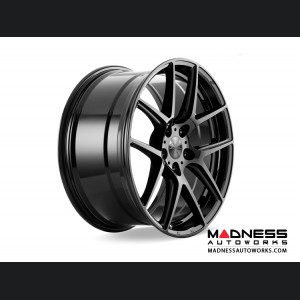 Alfa Romeo Stelvio Custom Wheels - Flow Formed - 5 Split Spoke Design - Black Chrome Finish