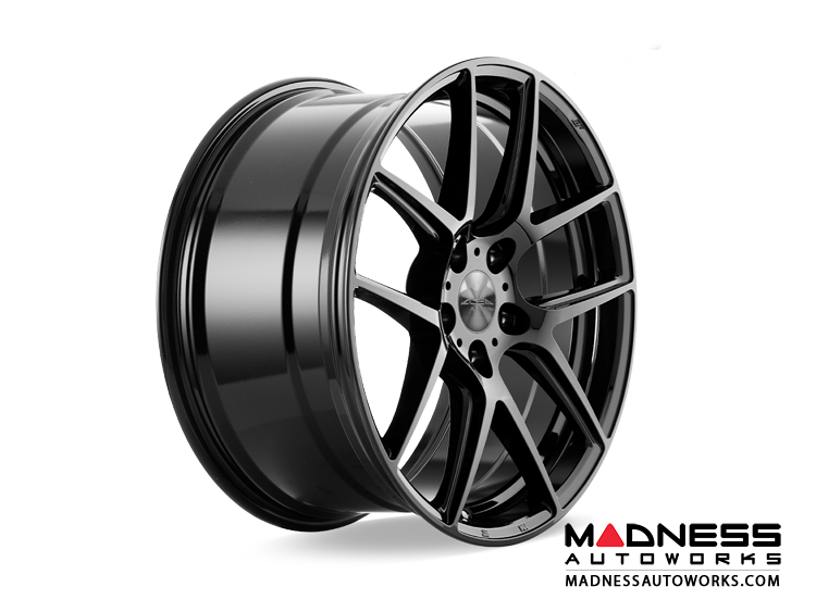 Alfa Romeo Stelvio Custom Wheels - Flow Formed - 5 Split Spoke Design - Matte Black Finish