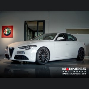 Alfa Romeo Giulia Custom Wheels - Devotion - Matte Mica Grey w/ Machine Face