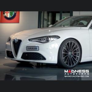Alfa Romeo Giulia Custom Wheels - Devotion - Matte Mica Grey w/ Machine Face