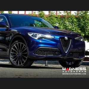 Alfa Romeo Stelvio Custom Wheels - Flow Formed - Devotion - Titanium