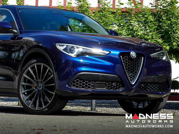 Alfa Romeo Stelvio Custom Wheels - Flow Formed - Devotion - Matte Mica Grey w/ Machine Face