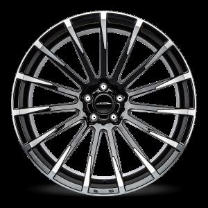 Alfa Romeo Stelvio Custom Wheels - Flow Formed - Devotion - Black w/ Machined Face
