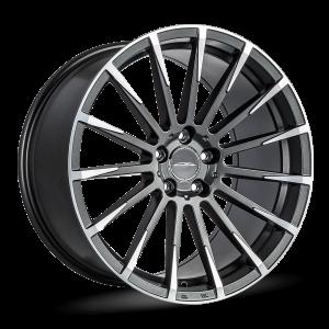 Alfa Romeo Stelvio Custom Wheels - Flow Formed - Devotion - Matte Mica Grey w/ Machine Face