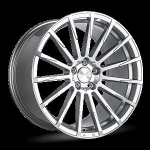 Alfa Romeo Stelvio Custom Wheels - Flow Formed - Devotion - Metallic Silver Machined Face