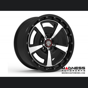 Custom Wheels by Centerline Alloy - MM2MB - Gloss Black w/ Machined Face