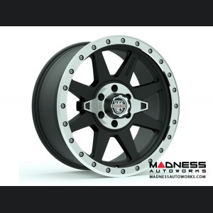 Custom Wheels by Centerline Alloy - RT2MX2 - Satin Black w/ a Machined Center and Ring