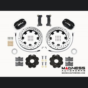 Mazda Miata (2016+) Brake Conversion Kit - Wilwood Dynalite 4 Piston Front Brake Kit (Black Calipers /  SRP Drilled & Slotted Rotors)