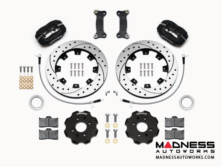 Mazda Miata (2016+) Brake Conversion Kit - Wilwood Dynalite 4 Piston Front Brake Kit (Black Calipers /  SRP Drilled & Slotted Rotors)