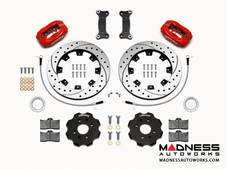 Mazda Miata (2016+) Brake Conversion Kit - Wilwood Dynalite 4 Piston Front Brake Kit (Red Calipers /  SRP Drilled & Slotted Rotors)