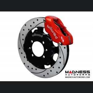 Mazda Miata (2016+) Brake Conversion Kit - Wilwood Dynalite 4 Piston Front Brake Kit (Red Calipers /  SRP Drilled & Slotted Rotors)