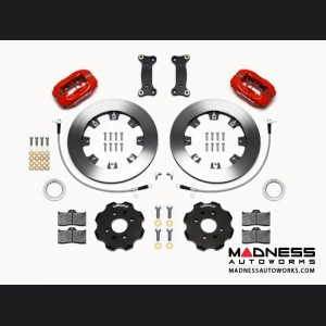 Mazda Miata (2016+) Brake Conversion Kit - Wilwood Dynalite 4 Piston Front Brake Kit (Red Calipers / Plain Face Rotors)