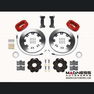 Mazda Miata (2016+) Brake Conversion Kit - Wilwood Dynalite 4 Piston Front Brake Kit (Red Calipers / Plain Face Rotors)