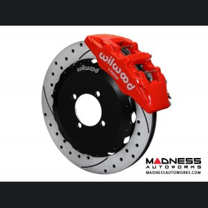 Mazda Miata (2016+) Brake Conversion Kit - Wilwood Dynapro 6 Piston Front Brake Kit (Red Calipers /  SRP Drilled & Slotted Rotors)