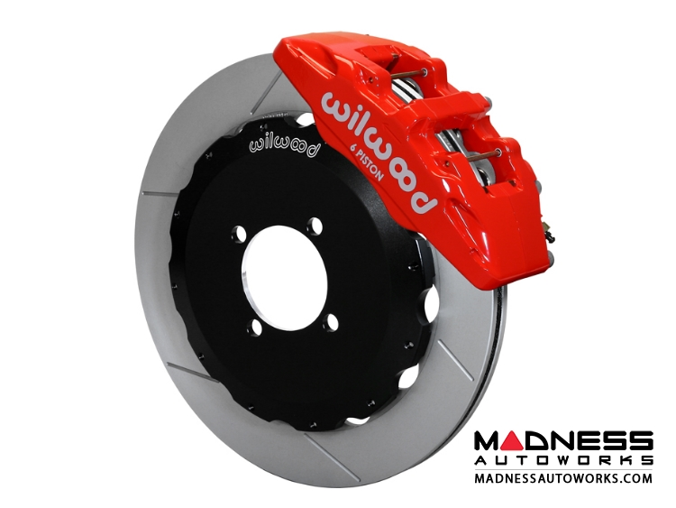 Mazda Miata (2016+) Brake Conversion Kit - Wilwood Dynapro 6 Piston Front Brake Kit (Red Calipers / GT Slotted Rotors)