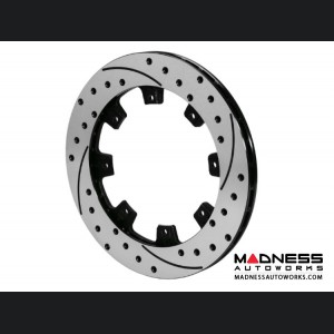 FIAT 500 Replacement Rotor Set - Wilwood SRP Drilled Performance Rotor - Black - Left and Right