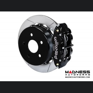 "Jeep Wrangler JK Brake Conversion Kit - 14"" Rotors - Wilwood Superlite 4R 4 Piston Rear Brake Upgrade Kit (Black Powder Coated Calipers / GT Slotted Rotors)"