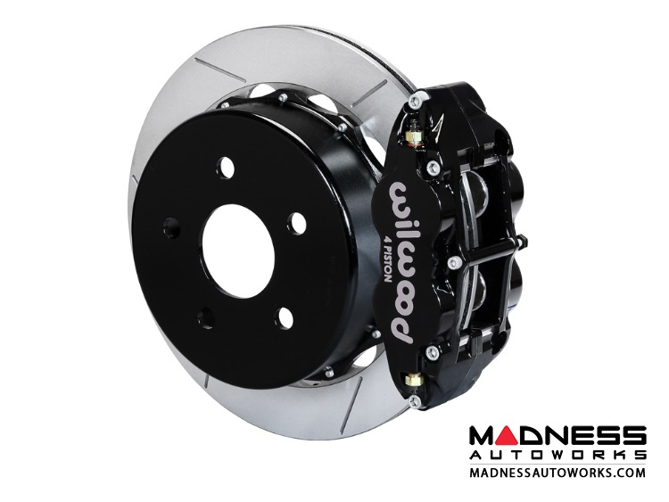 "Jeep Wrangler JK Brake Conversion Kit - 12.88"" Rotors - Wilwood Superlite 4R 4 Piston Rear Brake Upgrade Kit (Black Powder Coated Calipers / GT Slotted Rotors)"