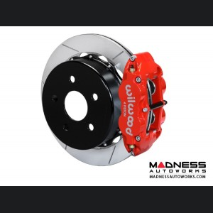 "Jeep Wrangler JK Brake Conversion Kit - 12.88"" Rotors - Wilwood Superlite 4R 4 Piston Rear Brake Upgrade Kit (Red Powder Coated Calipers / GT Slotted Rotors)"