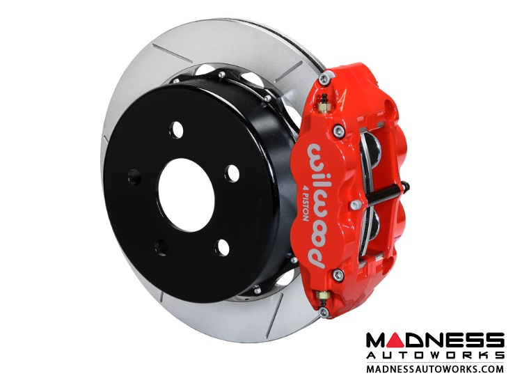 "Jeep Wrangler JK Brake Conversion Kit - 14"" Rotors - Wilwood Superlite 4R 4 Piston Rear Brake Upgrade Kit (Red Powder Coated Calipers / GT Slotted Rotors)"