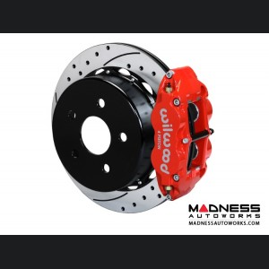 "Jeep Wrangler JK Brake Conversion Kit - 14"" Rotors - Wilwood Superlite 4R 4 Piston Rear Brake Upgrade Kit (Red Powder Coated Calipers / SRP Drilled & Slotted Rotors)"