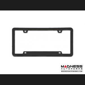 License Plate Frame - Black Chrome